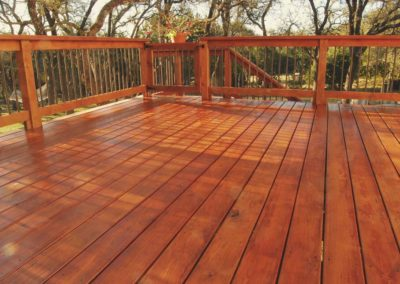 Newly Stained Deck Davies Home Improvements